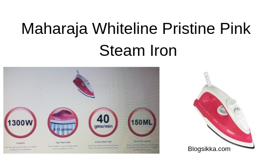 Maharaja Whiteline Pristine Pink Steam Iron