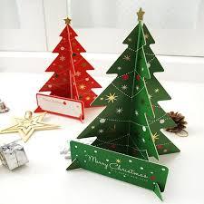 Xmas Tree Cards With Kids