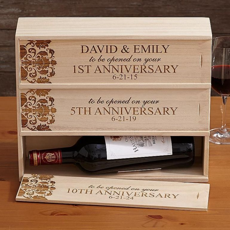 Customized Anniversary Wine Carrier