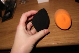 The Black sponge is the Primark Sponge; the Orange the Real Techniques.