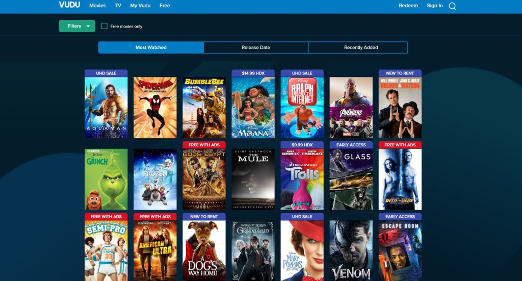 free movie web pages