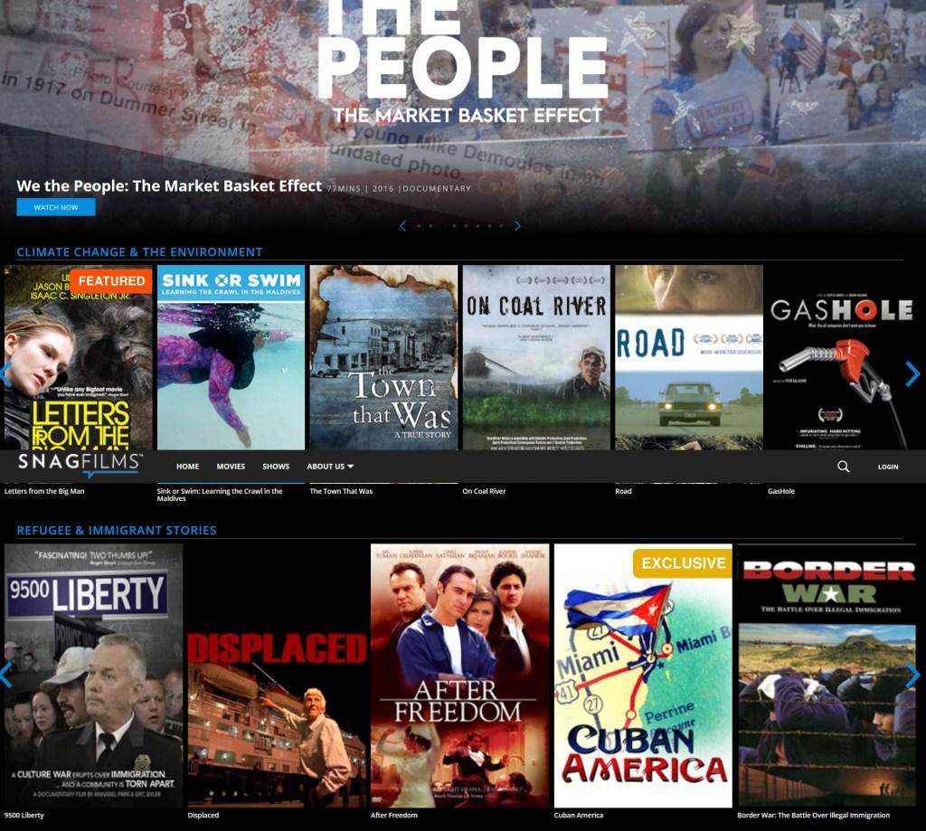 snagfilms - best free movie streaming site