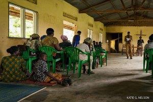 South Sudanese refugees in a churchin Arua, Uganda