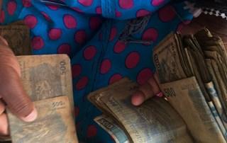 Money handling in Goma, democratic republic of congo