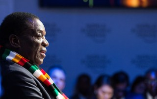 Emmerson Mnangagwa at the 2018 World Economic Forum in Davos.