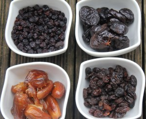 Prunes, Figs, Dates, Raisins