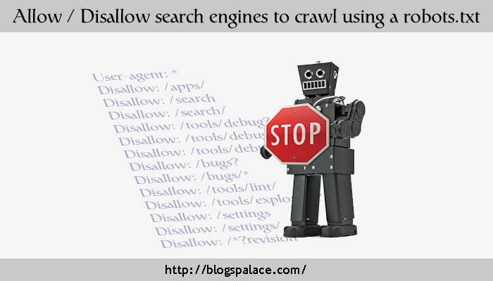 manage search engines crawl by robot.txt