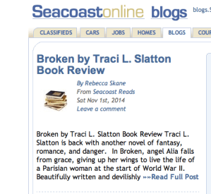 Amazing Review of Broken by Seacoast Online's Rebecca Skane