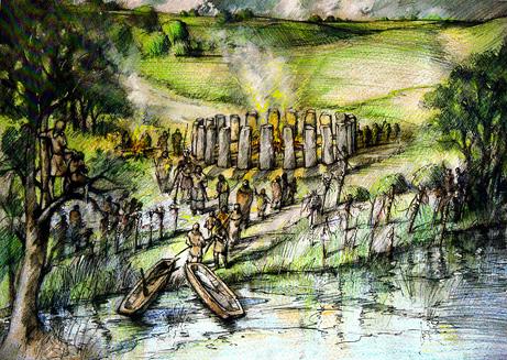 Ricostruzione di Bluehenge (Peter Dunn)