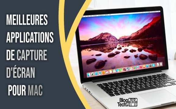 applications de capture d'écran pour Mac