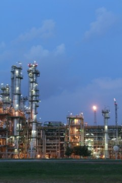 Chemical Factory At Evening by supakitmod