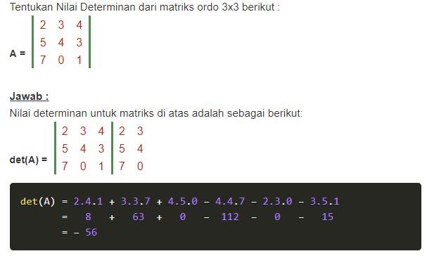 determinan matriks ordo 3x3