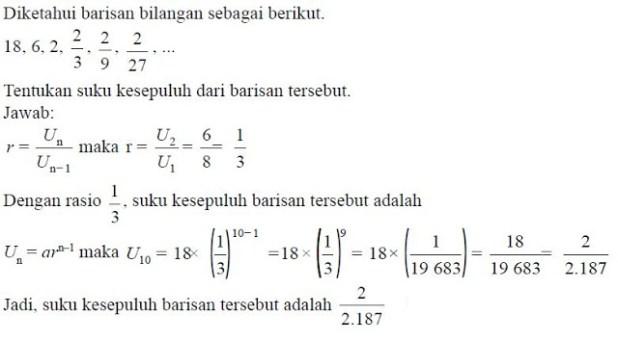 rumus barisan geometri - 3