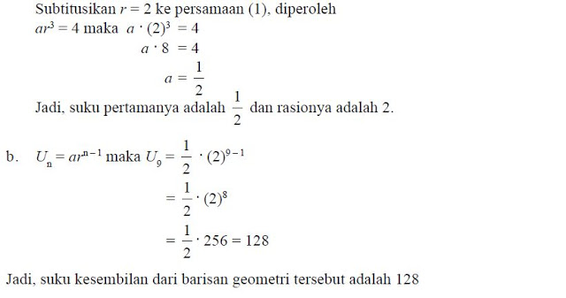 rumus barisan geometri - 1