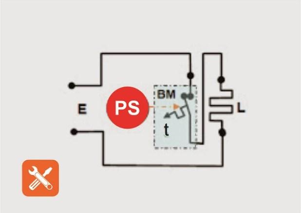 gambar rangkaian listrik setrika otomatis