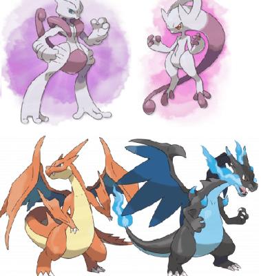 mega evoluciones charizard y mewtwo Pokemon X & Y