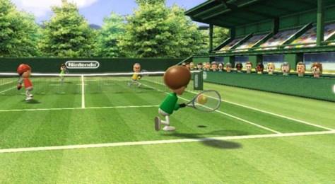 Tenis, uno de los deportes incluidos en el que es posiblemente el juego más famoso de la consola.