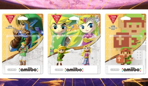 Amiibo, Zelda, Ocarine of Time, Wind Waker, Toon Link, The Legend Of Zelda, Aniversario 30, Nintendo Direct