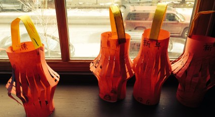 Primary students made lanterns as part of their artistic/cultural journey through China for Lunar New Year!