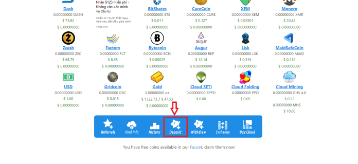 Chuyển bitcoin về Eobot