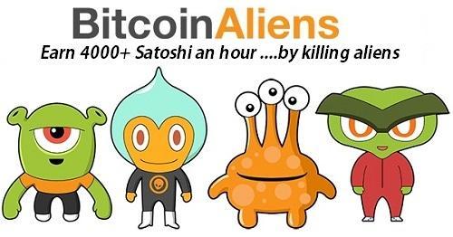 Kiếm bitcoin trên điện thoại iphone với Btc Aliens