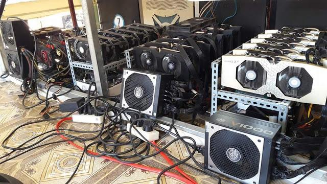 Máy đào bitcoin VGA cấu hình khủng