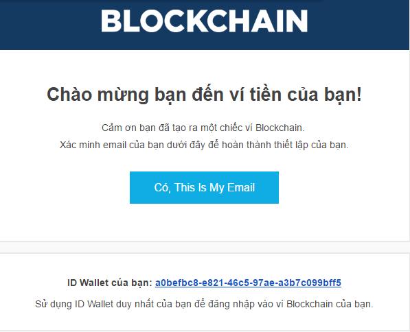 Xác minh đăng ký ví bitcoin