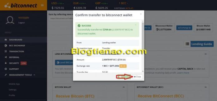 Rút lãi Bitconnect. Ảnh 4