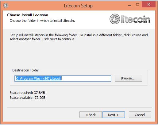 Tạo ví Litecoin bước 2