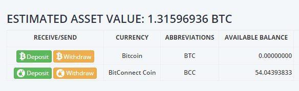 Ví Bitconnect