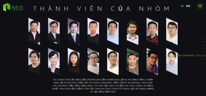 Đội ngũ phát triển dự án NEO