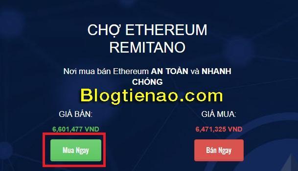 Mua ngay Ethereum trên Remitano