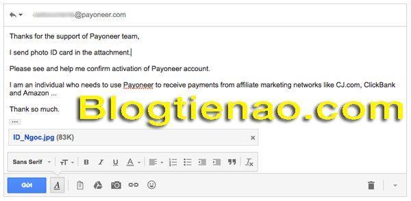 Xác thực thông tin đăng ký Payoneer. Ảnh 6