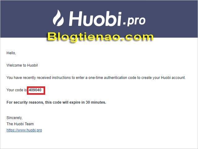 Đăng ký tài khoản trên HuobiPro. Ảnh 4