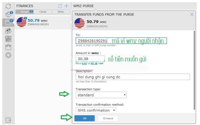 Chuyển tiền WMZ giữa 2 ví. Ảnh 2