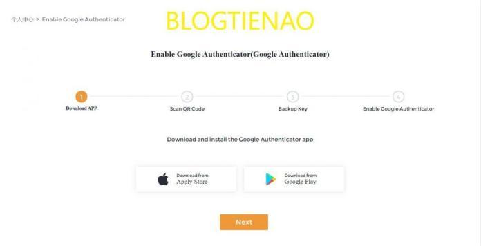 Tải ứng dụng Google Authenticator