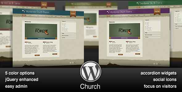 responsive wordpress themes for churches and ministries