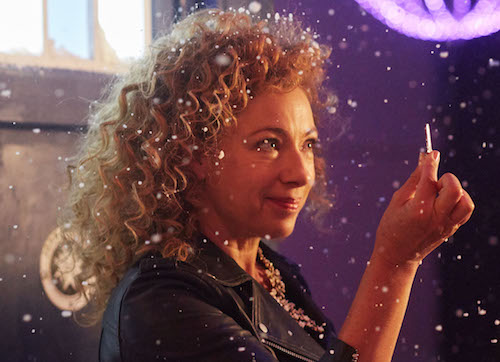 Picture shows: Alex Kingston as River Song