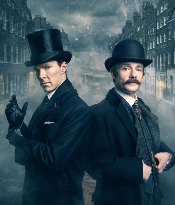 Sherlock - Dr John Watson (MARTIN FREEMAN), Sherlock Holmes (BENEDICT CUMBERBATCH) - (C) Hartswood Films - Photographer: Robert Viglasky