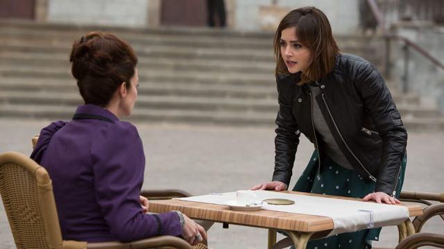 Missy (Michelle Gomez) & Clara Oswald (Jenna Coleman) - Doctor Who - The Magician's Apprentice (c) BBC