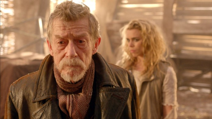 John Hurt as the War Doctor and Billie Piper as the moment - Doctor Who - The Day of the Doctor (c) BBC