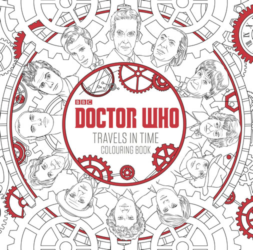 Doctor Who: Travels in Time Colouring Book Cover