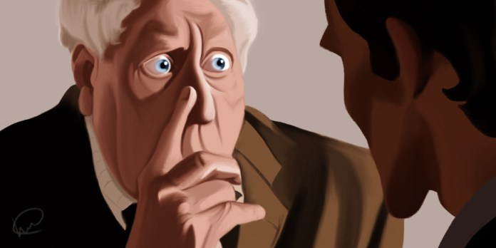 Tom Baker by Lucy Crewe