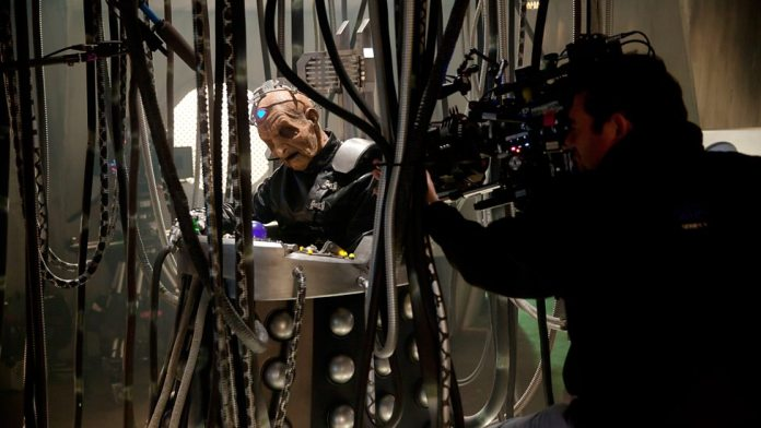 Doctor Who S9 E2 - The Witch's Familiar - Behind the Scenes - Davros (Julian Bleach) (c) BBC