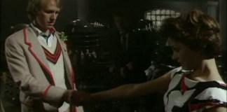 The Doctor (Peter Davison) & Tegan (Janet Fielding) Say Goodbye - -Doctor Who - Resurrection of the Daleks