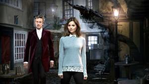 Doctor Who - FACE THE RAVEN (By Sarah Dollard) (No. 10) - Doctor Who (PETER CAPALDI), Clara (JENNA COLEMAN) - (C) BBC - Photographer: Simon Ridgway