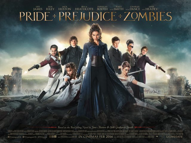 PRIDE AND PREJUDICE AND ZOMBIES - UK Quad - LIONSGATE UK