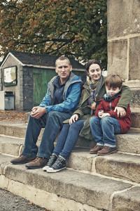 The A Word - Maurice Scott (CHRISTOPHER ECCLESTON), Alison Hughes (MORVEN CHRISTIE), Joe Hughes (MAX VENTO) - (C) Fifty Fathoms - Photographer: Rory Mulvey