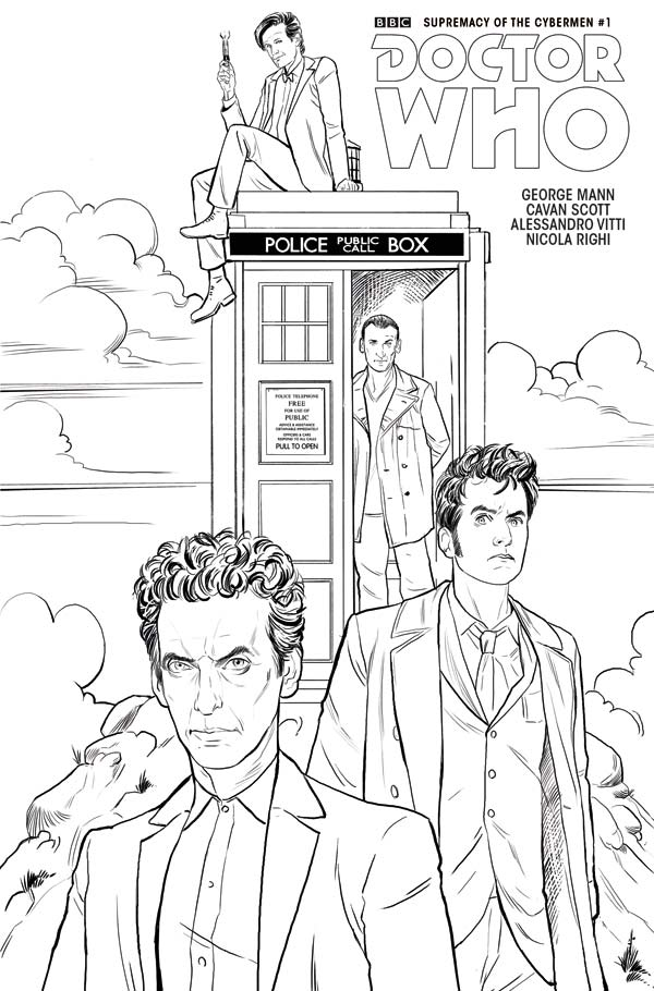 Doctor Who Comic Event - 'Supremacy of the Cybermen' - Cover D: Coloring Variant - Mariano Laclaustra (c) Titan Comics