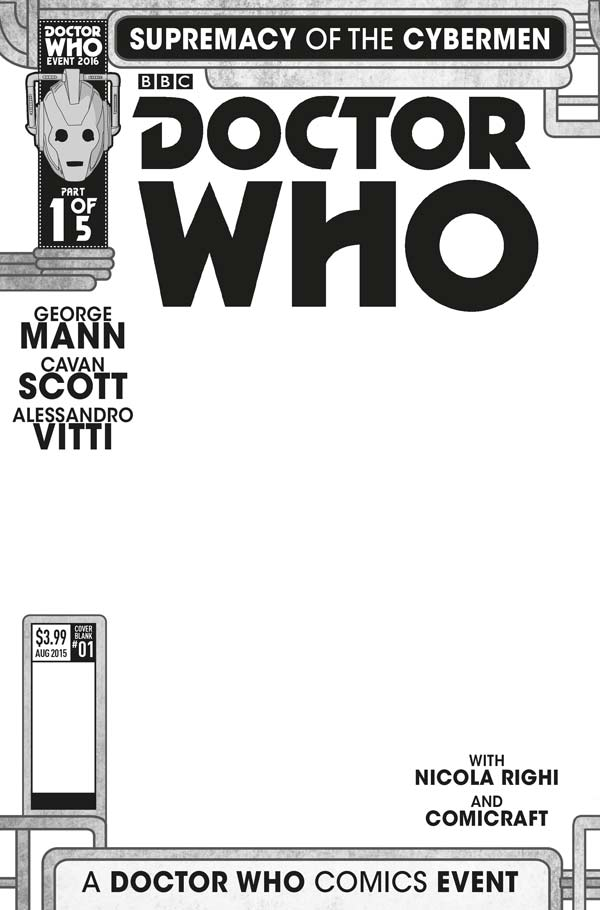 Doctor Who Comic Event - 'Supremacy of the Cybermen' - Cover E: Blank Sketch Variant (c) Titan Comics